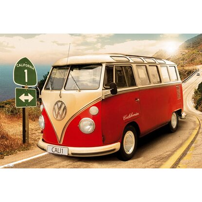 Maxiposter 61 cm x 91,5 cm VW Californian Camper - Route one