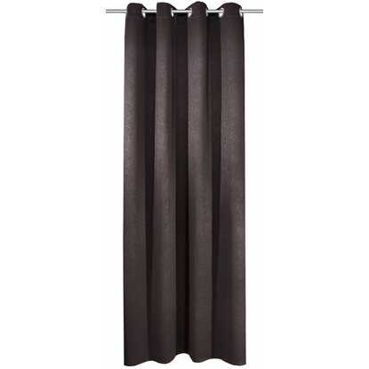 Blackout Závěs s poutky Leather antracit 245 cm x 135 cm
