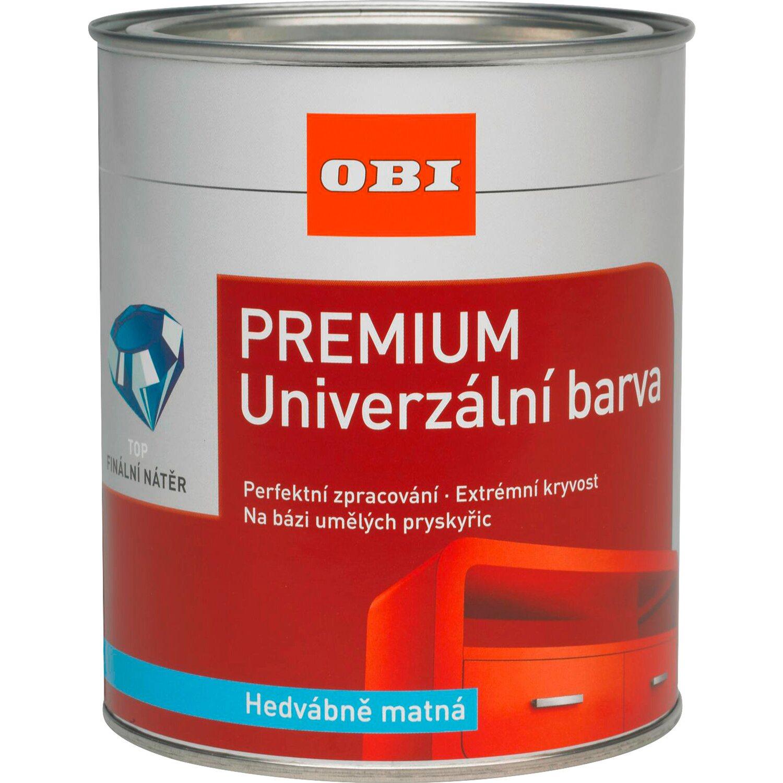 efe0ffb6fc7a OBI Premium Univerzální barva čokoládově hnědá hedvábně matná 750 ml ...