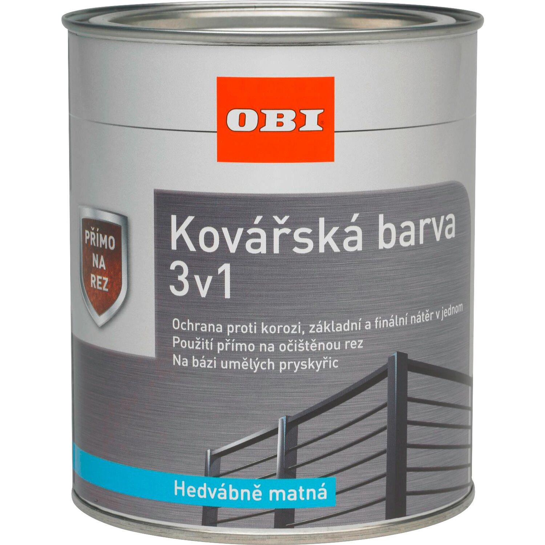 b4d05865b0a1 OBI Kovářská barva 3v1 černá hedvábně matná 375 ml nakoupit u OBI