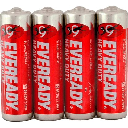 Eveready Baterie Heavy Duty AA, 4 ks