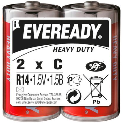 Eveready Baterie Heavy Duty C, 2 ks
