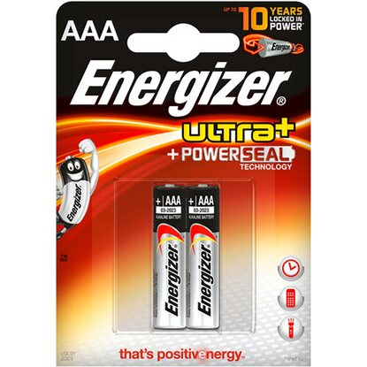Energizer Baterie Ultra Power Seal AAA, 2 ks