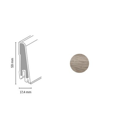 Döllken Profiles Lišta Clip USL 60 60 x 14,5 x 2500 mm, 2709 smoky oak gold