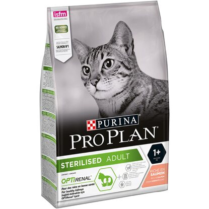 Purina Granule pro kočky ProPlan Optirenal Adult Sterilised losos 3 kg