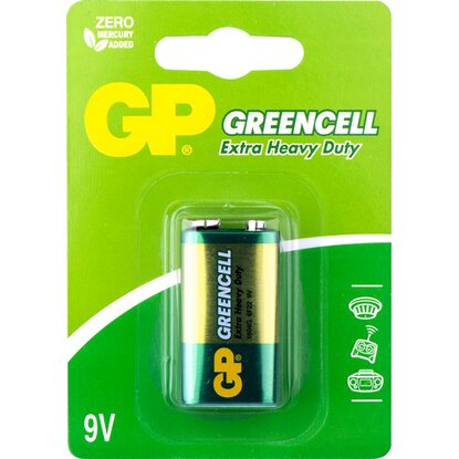 GP Baterie Greencell 6F22 (9 V), 1 ks