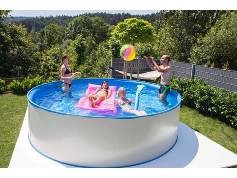 New splasher secure baz nov sada s ocelovou st nou 350 cm for Pool baumax
