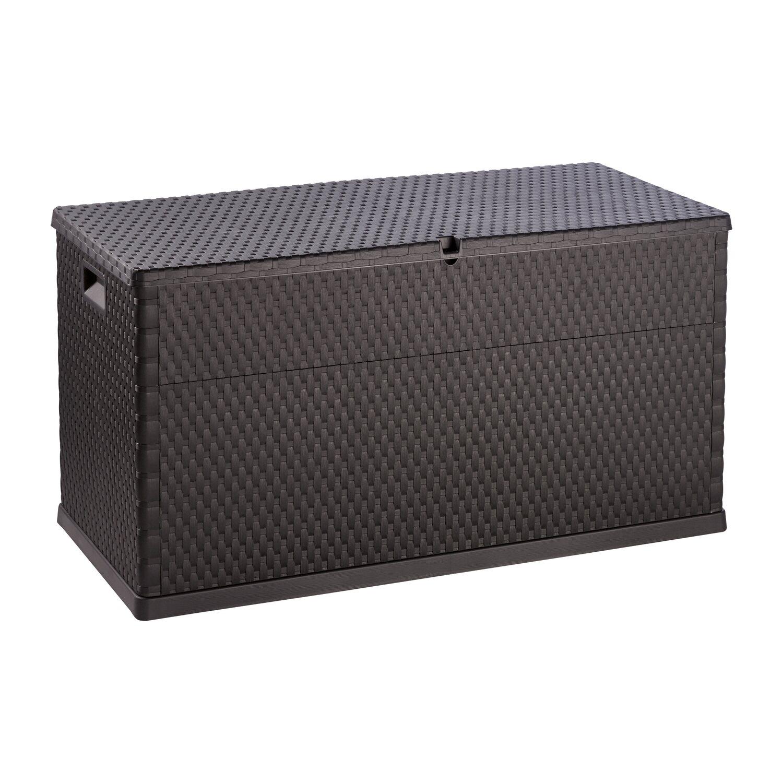 box na pol t e v ratanov m vzhledu 63 cm x 120 cm x 57 cm antracitov nakoupit u obi. Black Bedroom Furniture Sets. Home Design Ideas