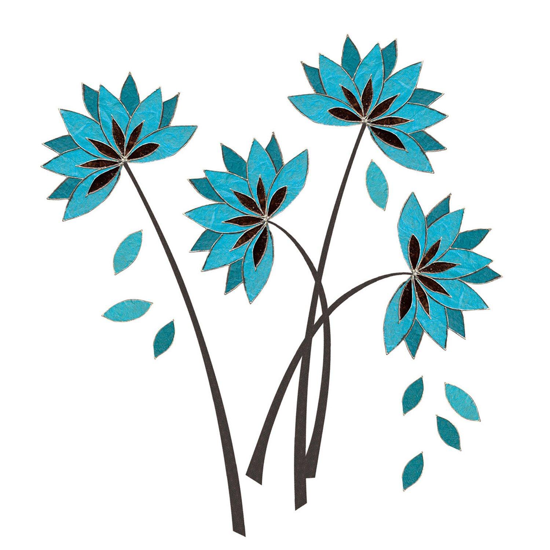 Eurographics Tetovn Na Ze Teal Lotus Flowers Nakoupit U Obi