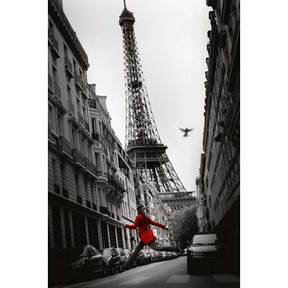 Maxiposter 61 cm x 91,5 cm Paris - Red woman
