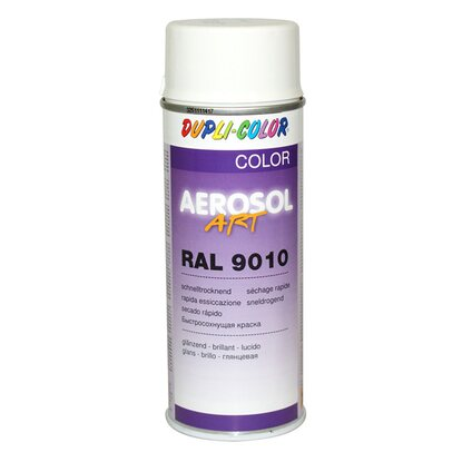 Dupli-Color Lak ve spreji AEROSOL ART 400 ml, (9010) bílá lesklá