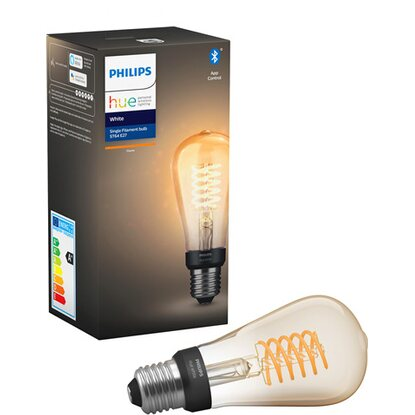 Philips Hue LED žárovka Filament ST19 White E27 9 W Bluetoot A+
