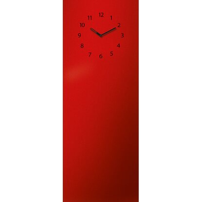 Eurographics Memoboard Time Board 30 cm x 80 cm Red Clock