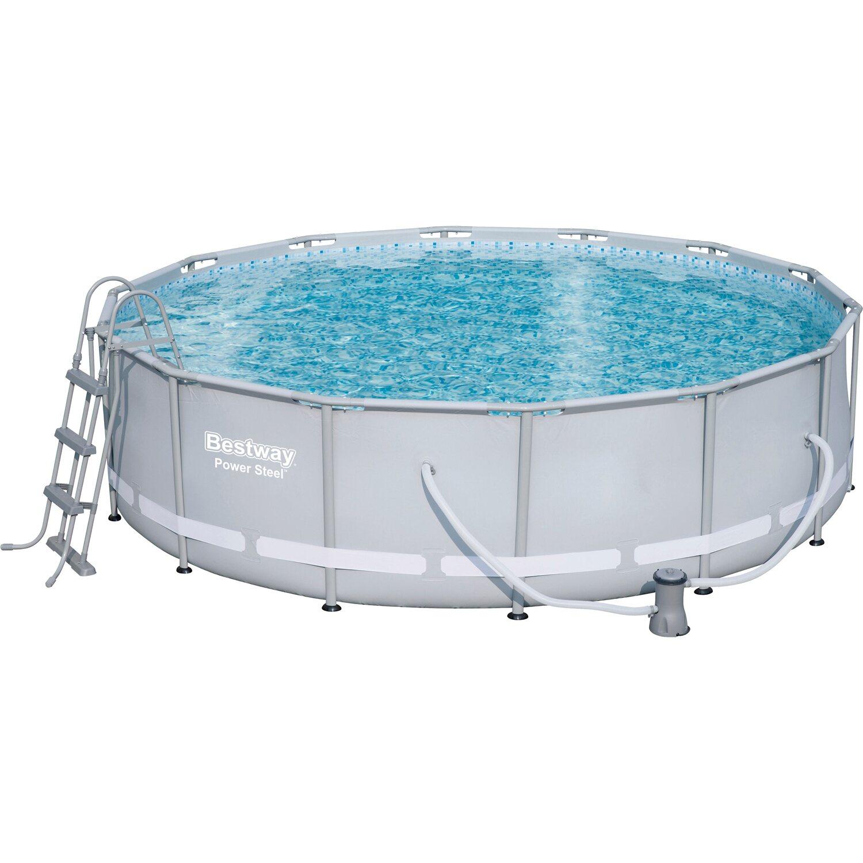Bestway power steel baz nov sada s ocelov m r mem 427 cm for Quick pool obi