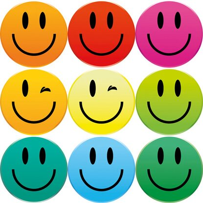 Eurographics Sada magnetů pro memoboard Smiley Magnets 11,5 cm x 20,5 cm